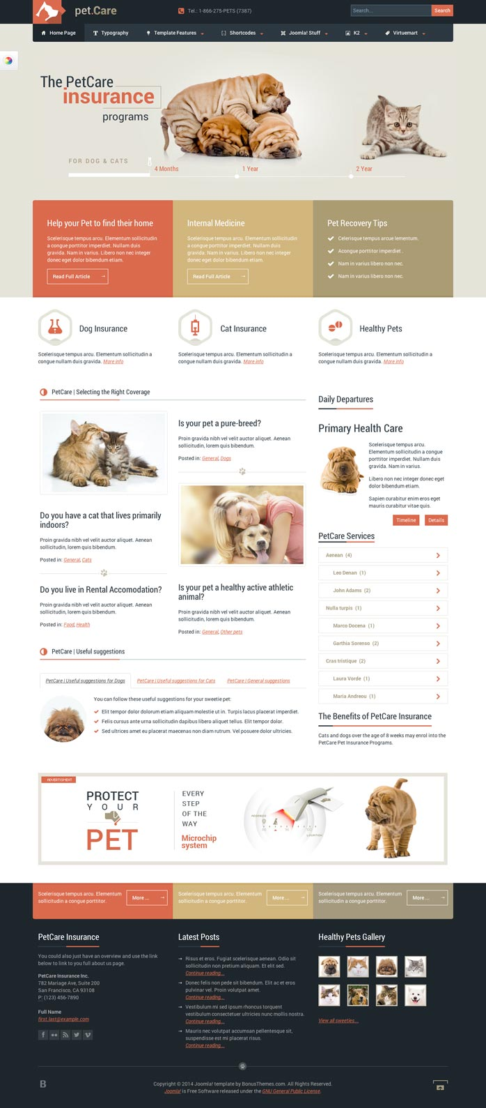 [Preview] Petcare - Animal Template for Joomla